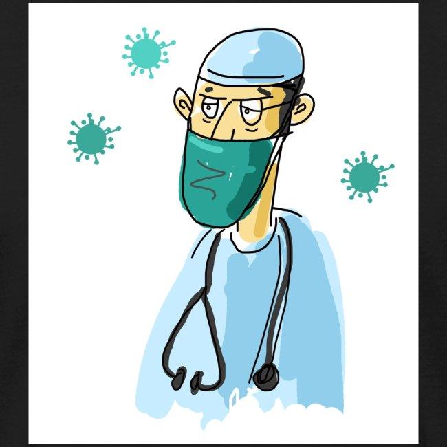 Cartoon Doktor Geschenkidee gezeichnet