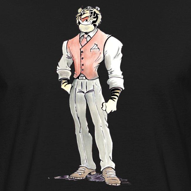 tigre aquarelle caricature BD smart