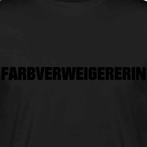 Farbverweigererin - Männer Bio-T-Shirt