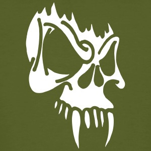 Wicked Skull With Fangs - Men's Organic T-shirt