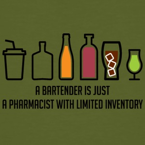 Pharmazie / Apotheker: A Bartender Is Just A - Männer Bio-T-Shirt