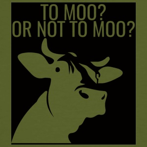 Kuh / Bauernhof: To Moo? Or Not To Moo? - Männer Bio-T-Shirt