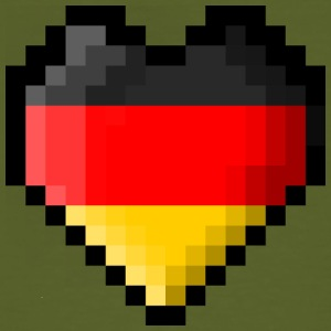 Pixel heart Germany flag - Men's Organic T-shirt