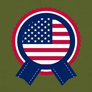 Independence Day American Flag Badge - Organic mænd