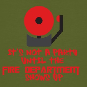 Fire Department: It's not a party until the fire - Men's Organic T-shirt
