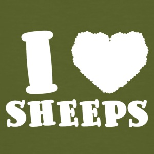 Sau / farm: I Love Sheeps - Økologisk T-skjorte for menn