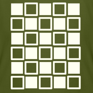 Optical illusion: dancing squares - Männer Bio-T-Shirt