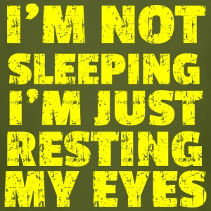 NOT SLEEPING yellow - Men's Organic T-shirt