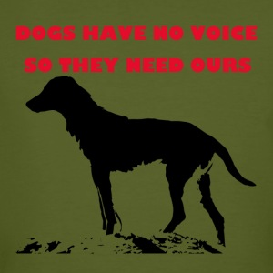 TS_dogs have no voice1 red - Männer Bio-T-Shirt