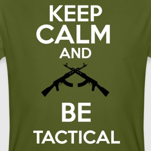 keepcalm and be tactical - Camiseta ecológica hombre