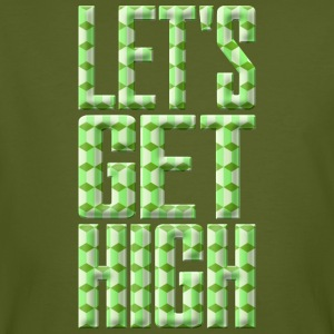 Lets Get High Grün 003 AllroundDesigns - Männer Bio-T-Shirt