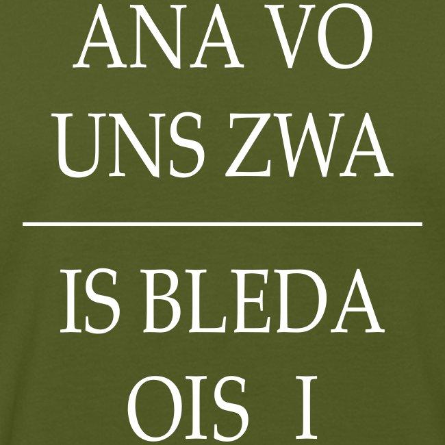 Vorschau: ana vo uns zwa is bleda ois i - Männer Bio-T-Shirt