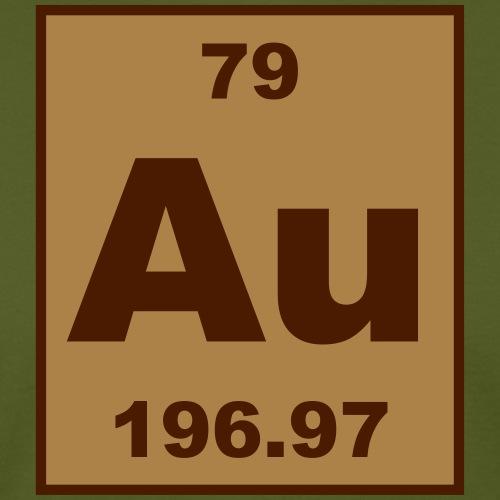 Gold (Au) (element 79) - Men's Organic T-Shirt