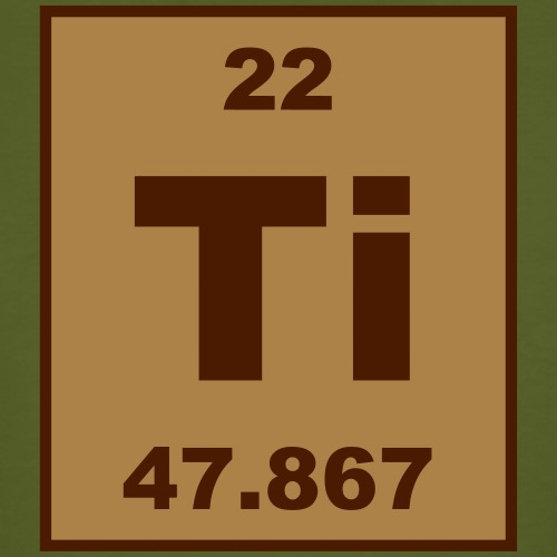 Titanium (Ti) (element 22) - Men's Organic T-Shirt