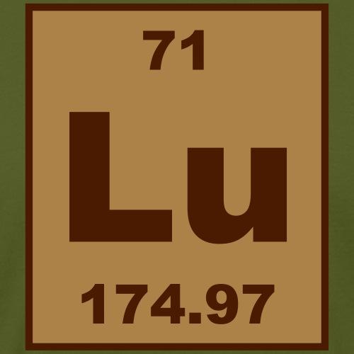 lu (lutetium) - Element 71 - Short (white) - Men's Organic T-Shirt