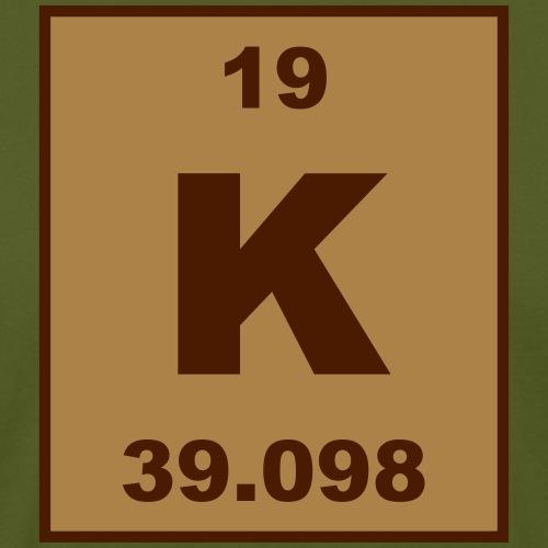 Potassium (K) (element 19) - Men's Organic T-Shirt