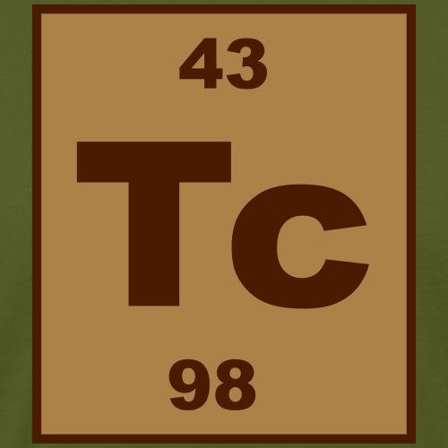 Technetium (Tc) (element 43) - Men's Organic T-Shirt