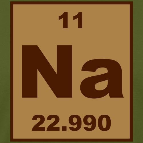 Sodium (Na) (element 11) - Men's Organic T-Shirt