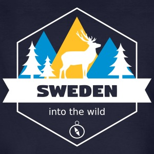 Sverige Into the Wild - Økologisk T-skjorte for menn