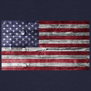 America Flag Wood Look - Ekologisk T-shirt herr