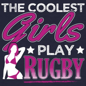 COOLEST GIRLS PLAY RUGBY - Men's Organic T-shirt
