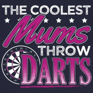 COOLEST MUMS PLAY DARTS - Männer Bio-T-Shirt