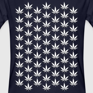 Hemp Leaf White 007 AllroundDesigns - Men's Organic T-shirt