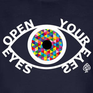 Shapes - Open Your Eyes White - Männer Bio-T-Shirt