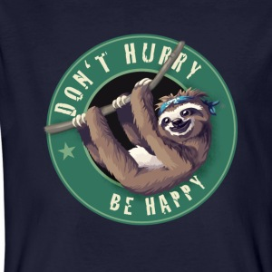 Sloth Starbucks Button lata kul Humor LOL chill - Ekologisk T-shirt herr