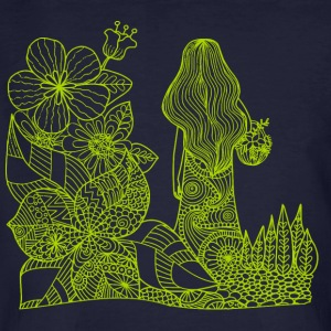 mother nature drawing green - Men's Organic T-shirt