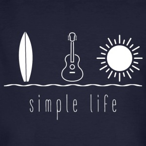 Simple Life Ukulele - Männer Bio-T-Shirt