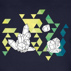 Crystal Tale geometric crystal triangle design - Men's Organic T-shirt