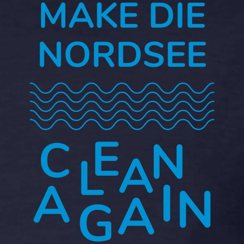 Make die Nordsee clean again 2019 - Männer Bio-T-Shirt