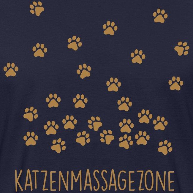 Vorschau: Katzen Massage Zone - Männer Bio-T-Shirt