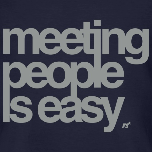 meetingpeopleiseasy forbiddenshirts de - Männer Bio-T-Shirt