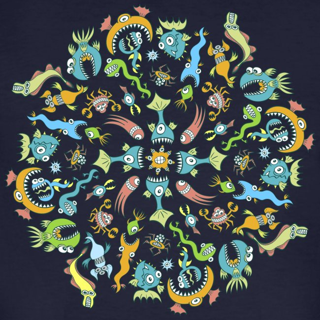 Marine Creatures Eat by Creating a Mandala