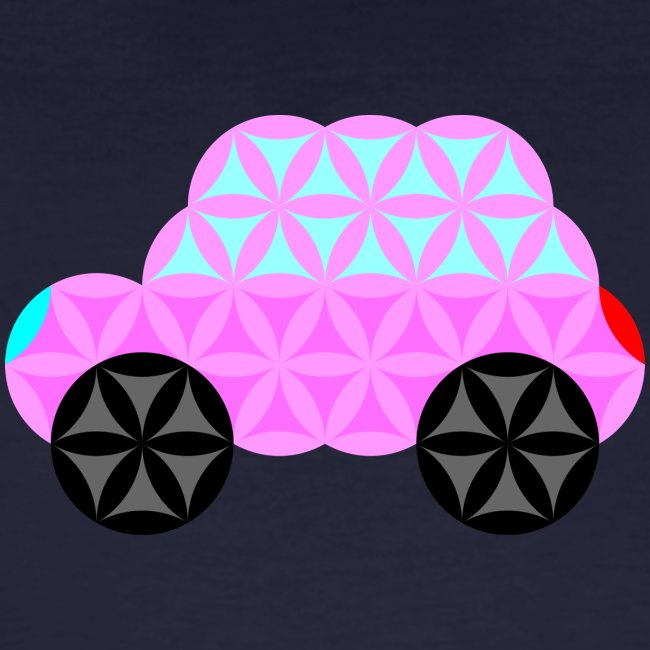 The Car Of Life - 01, Sacred Shapes, Pink.