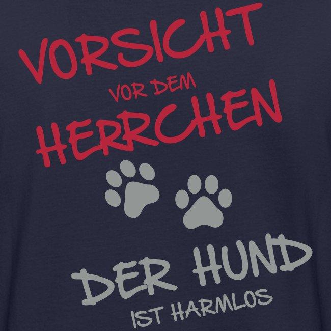 Vorschau: Vorsicht Herrchen - Männer Bio-T-Shirt