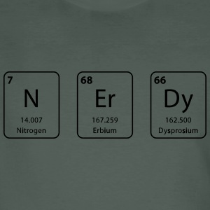 Nerdy periodic table element - Men's Organic T-shirt