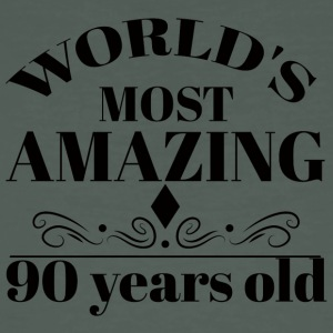90th Birthday: World's Most Amazing 90 Years Old - Men's Organic T-shirt