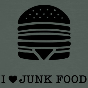 I love junk food / I love junk food - Men's Organic T-shirt