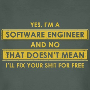Software Engineer - Mannen Bio-T-shirt