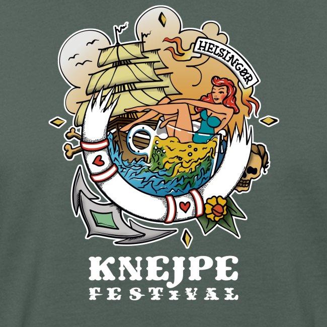 Knejpe Festival - tattoo med hvid tekst