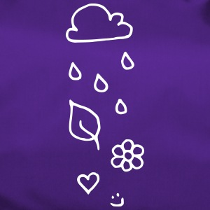 Cloud rain heart leaf flower smiley face - Duffel Bag