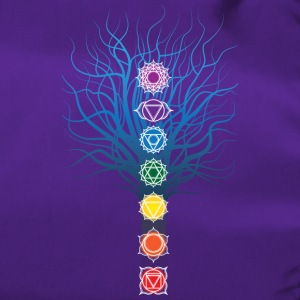 7 chakras on Tree - Duffel Bag