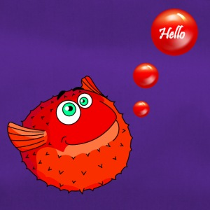 Cute Red Puffer Fish - Torba sportowa