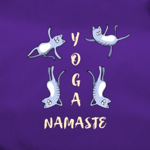 chat yoga méditation mignon namaste lotus LOL h - Sac de sport