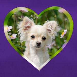 Chihuahua sweet puppy portrait with heart - Duffel Bag