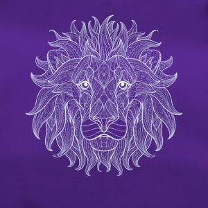 lion white lion king overzicht patroon Mandala Head - Sporttas