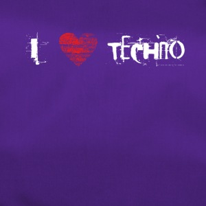 I love techno rave goa hardtek hardstyle - Duffel Bag